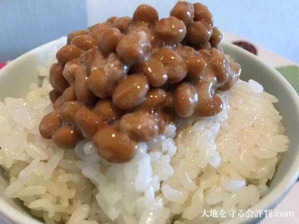 大地を守る会のお試しセットの納豆